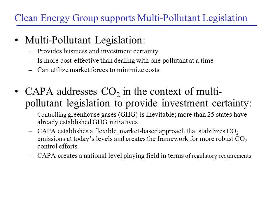 Targets under CAPA 2009: 2005 Levels (2.6 Billion Tons + Flexibility/Offsets) 2013: 2001 Levels (2.4 Billion Tons + Flexibility/Offsets)