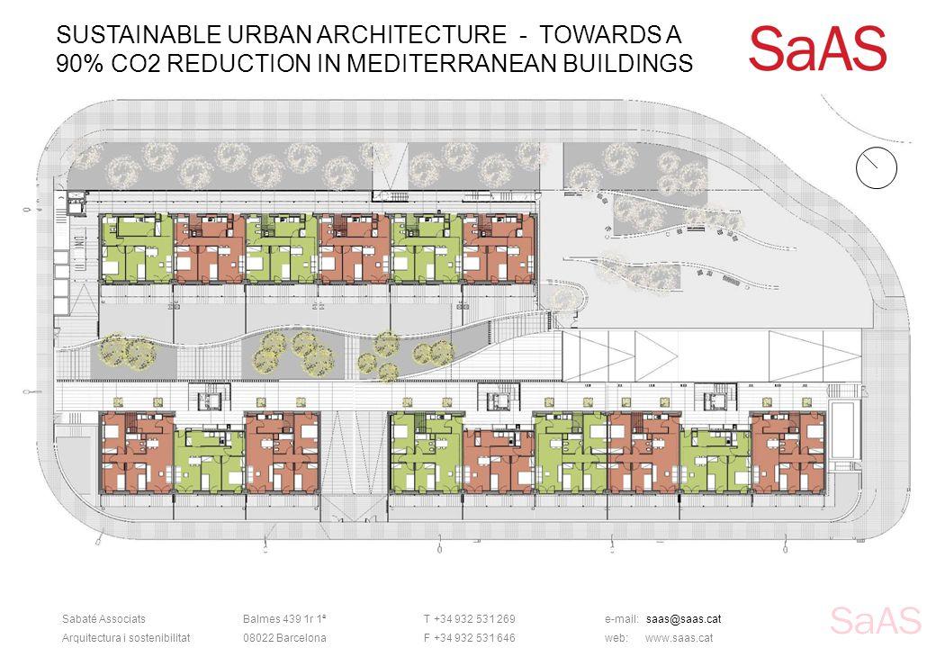 SUSTAINABLE URBAN ARCHITECTURE - TOWARDS A 90% CO2 REDUCTION IN MEDITERRANEAN BUILDINGS Sabaté AssociatsBalmes 439 1r 1ªT +34 932 531 269e-mail: saas@