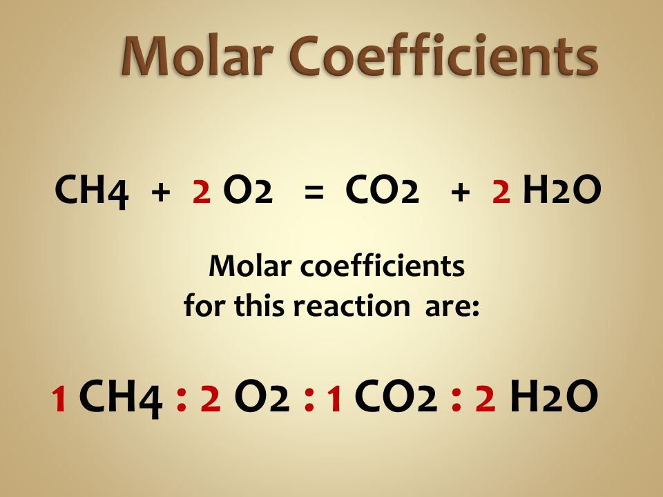 Molar coefficients are used for calculations.