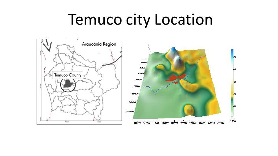 Temuco city Location