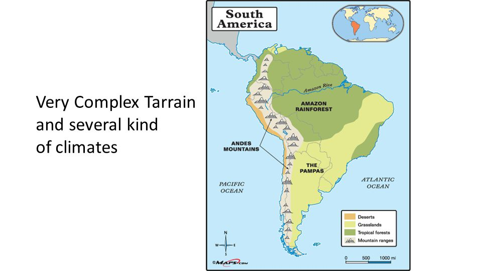 Very Complex Tarrain and several kind of climates