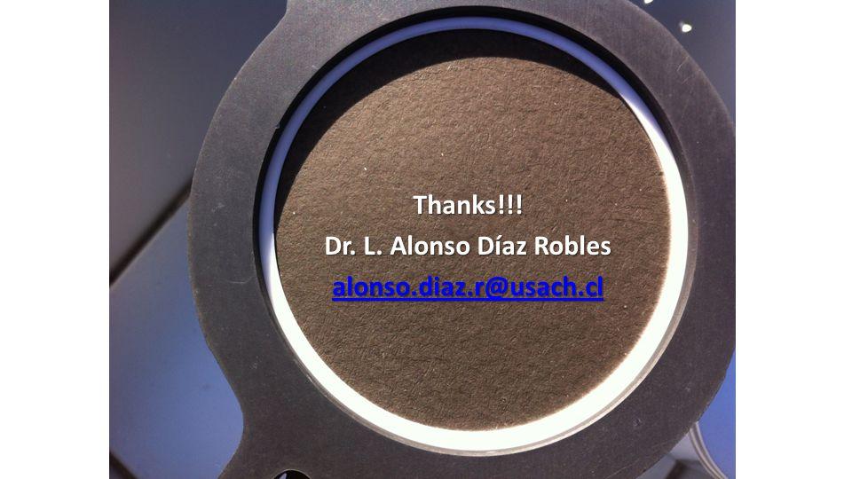 Thanks!!! Dr. L. Alonso Díaz Robles alonso.diaz.r@usach.cl
