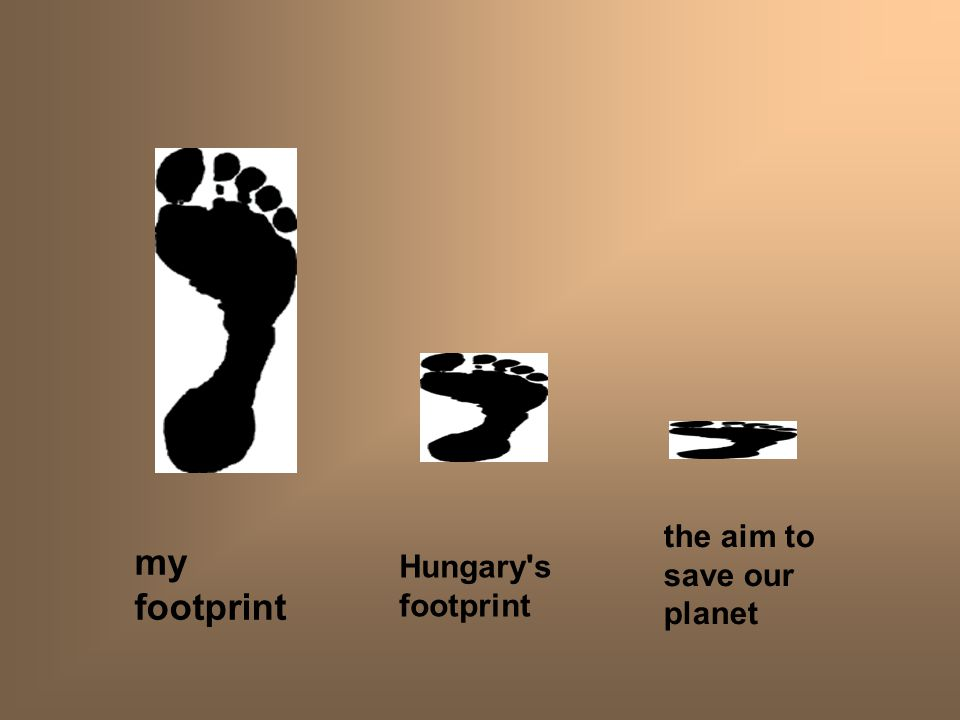 my footprint Hungary s footprint the aim to save our planet