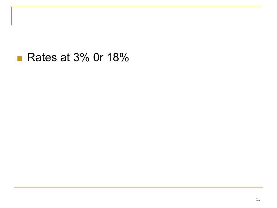 Rates at 3% 0r 18% 15