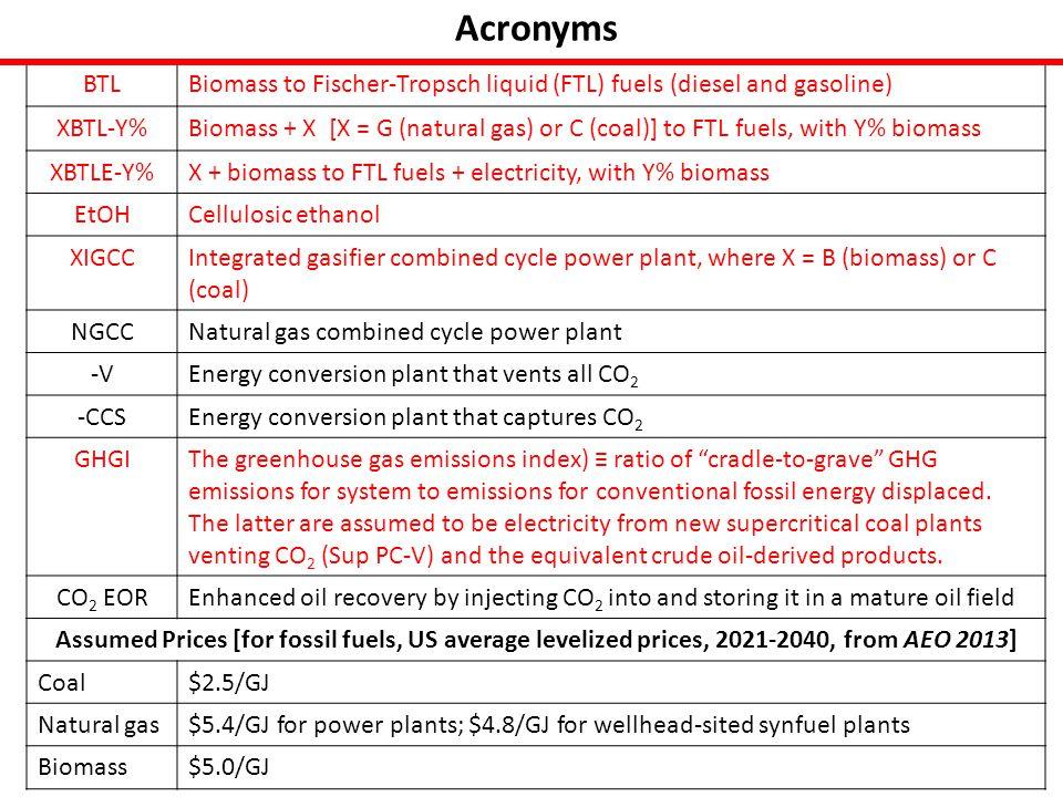 Cellulosic EtOH Options EtOH-CCS a,b,d EtOH-V a,b,d Gasoline equiv.