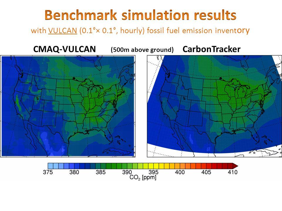 CMAQ-VULCANCarbonTracker (500m above ground)