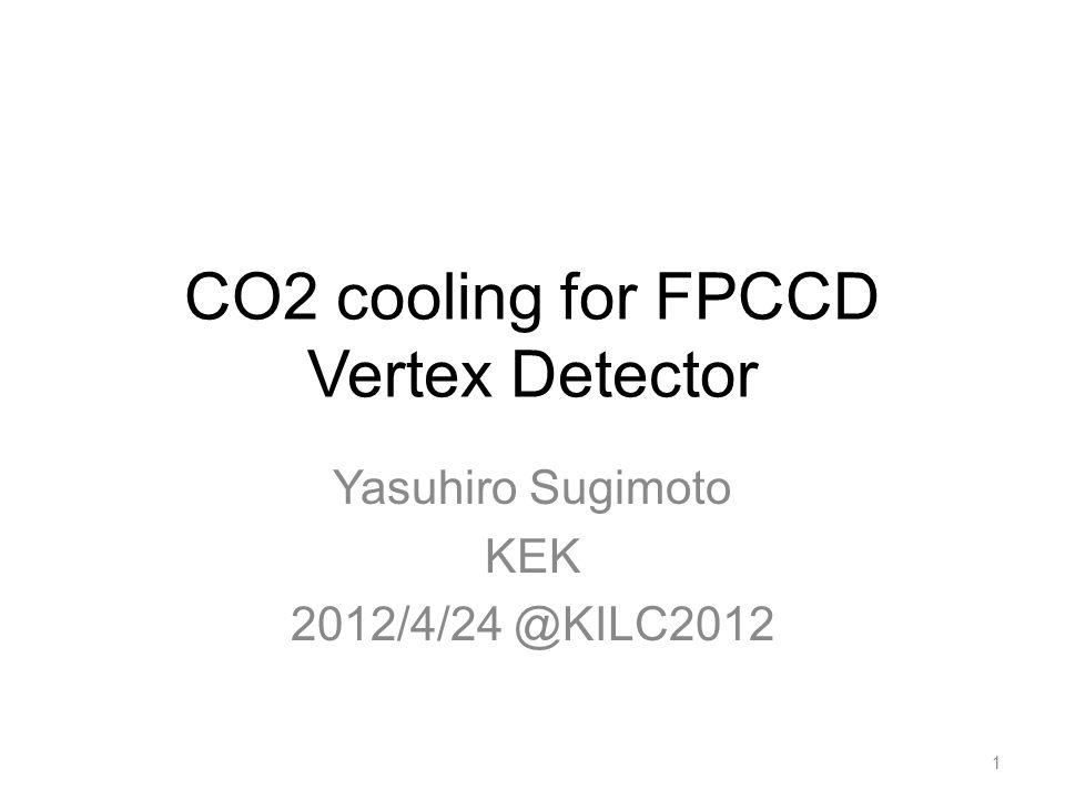 FPCCD vertex detector Fine Pixel CCD –Pixel size ~ 5  m –Fully depleted epitaxial layer –Multi-port readout –Read out between trains (No power pulsing) FPCCD vertex detector –Double-sided ladder –Sensors and front-end ASICs inside a cryostat –Power consumption > 50W inside the cryostat FPCCD prototype 2