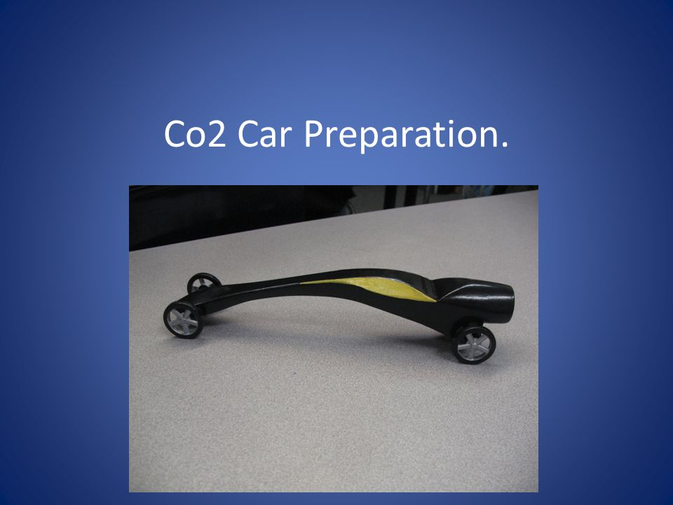 Use scissors to cut out your Co2 car.