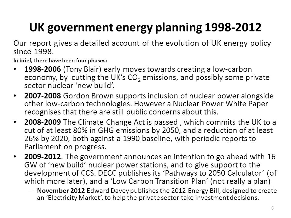 The current UK energy supply system The current UK energy system produces some 300 GW of 'primary' energy.