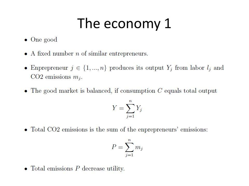 The economy 1