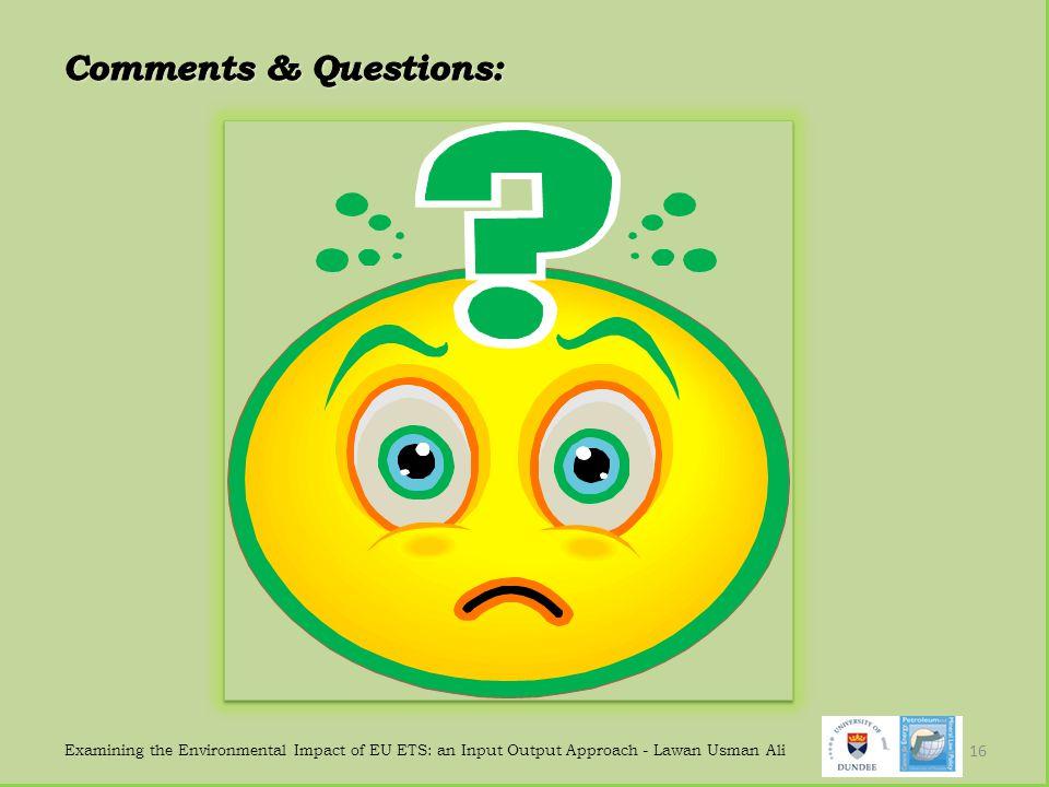 Examining the Environmental Impact of EU ETS: an Input Output Approach - Lawan Usman Ali 16