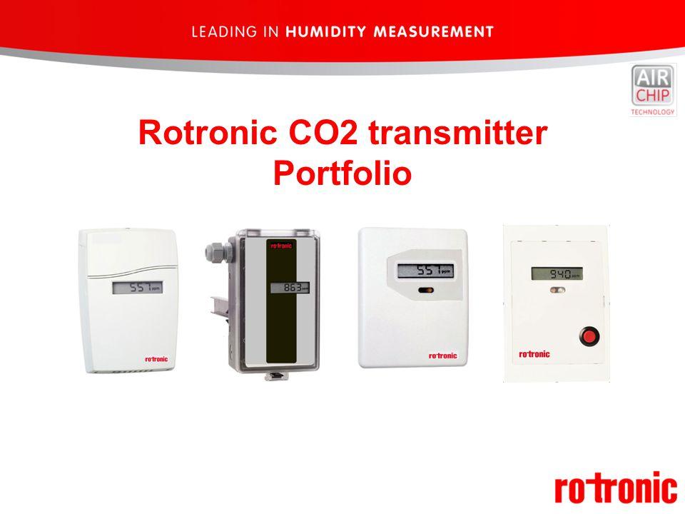 Rotronic CO2 transmitter Portfolio