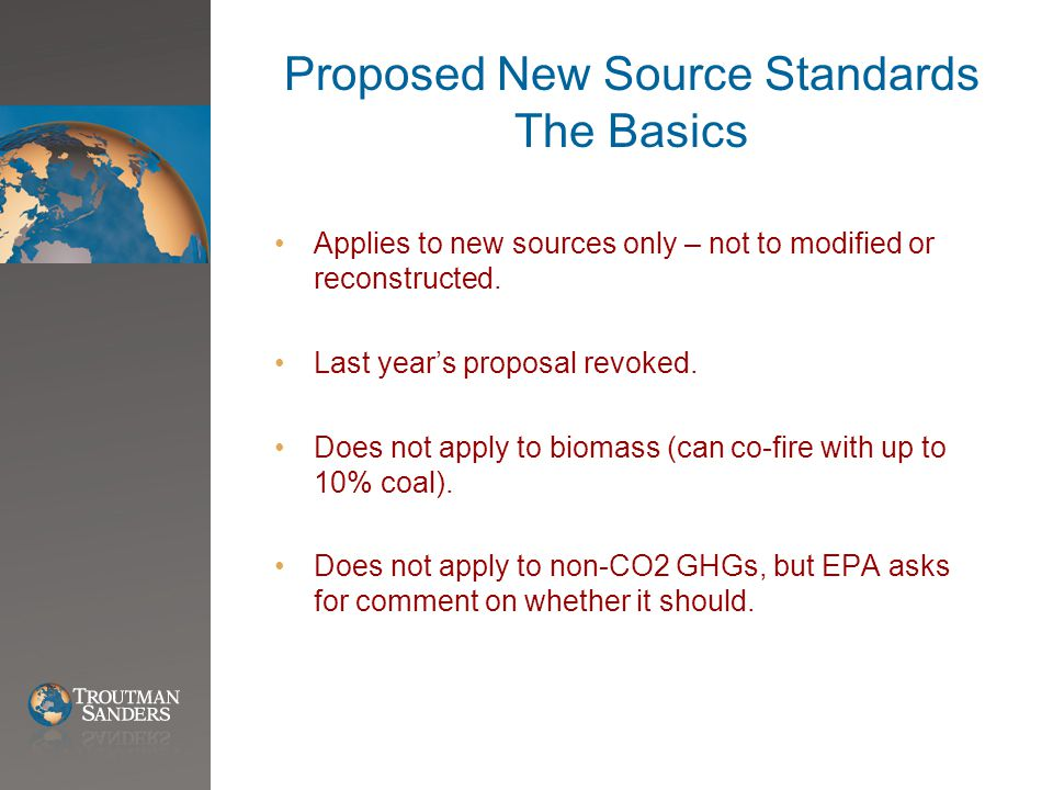 Thoughts on Comments EPA will not change its mind on this rule.