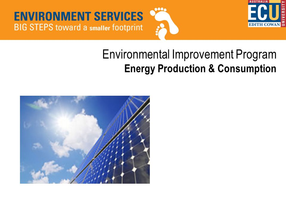 Environmental Improvement Program Energy Production & Consumption