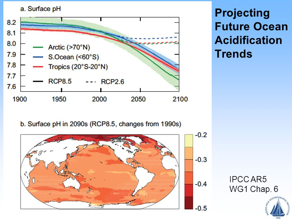 Projecting Future Ocean Acidification Trends IPCC AR5 WG1 Chap. 6