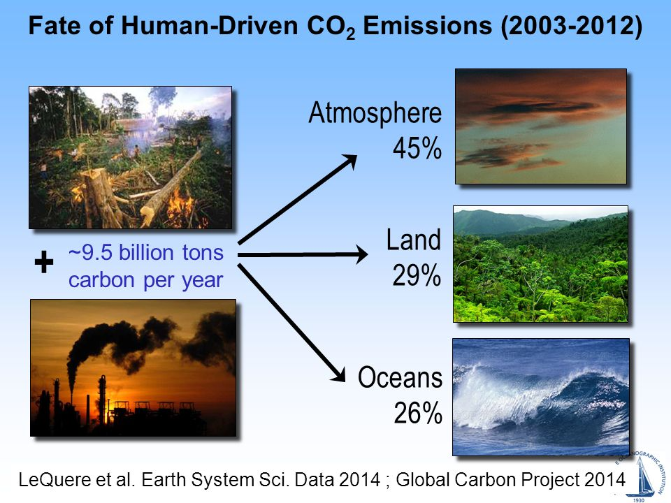 Fate of Human-Driven CO 2 Emissions (2003-2012) LeQuere et al.