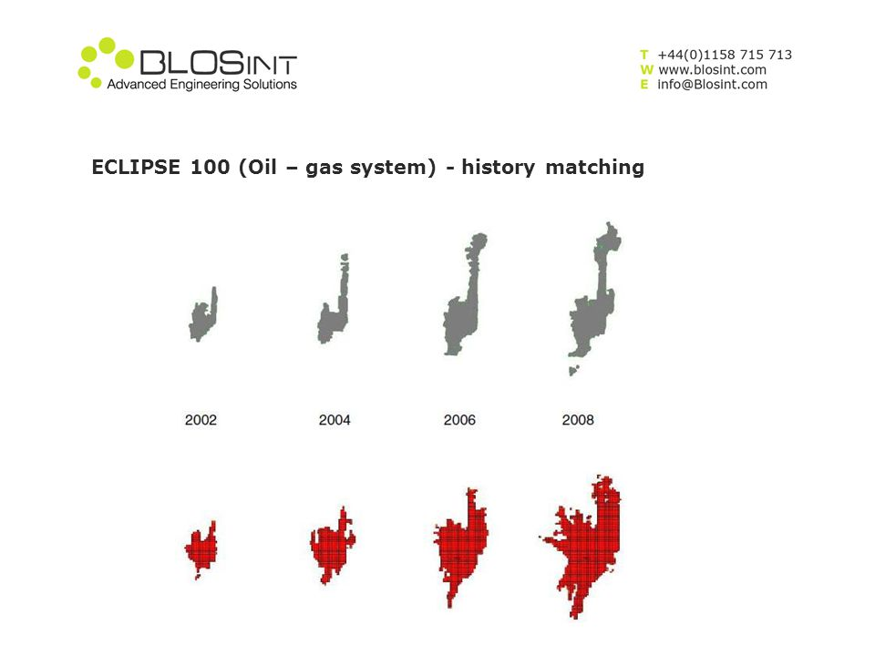 ECLIPSE 100 (Oil – gas system) - history matching