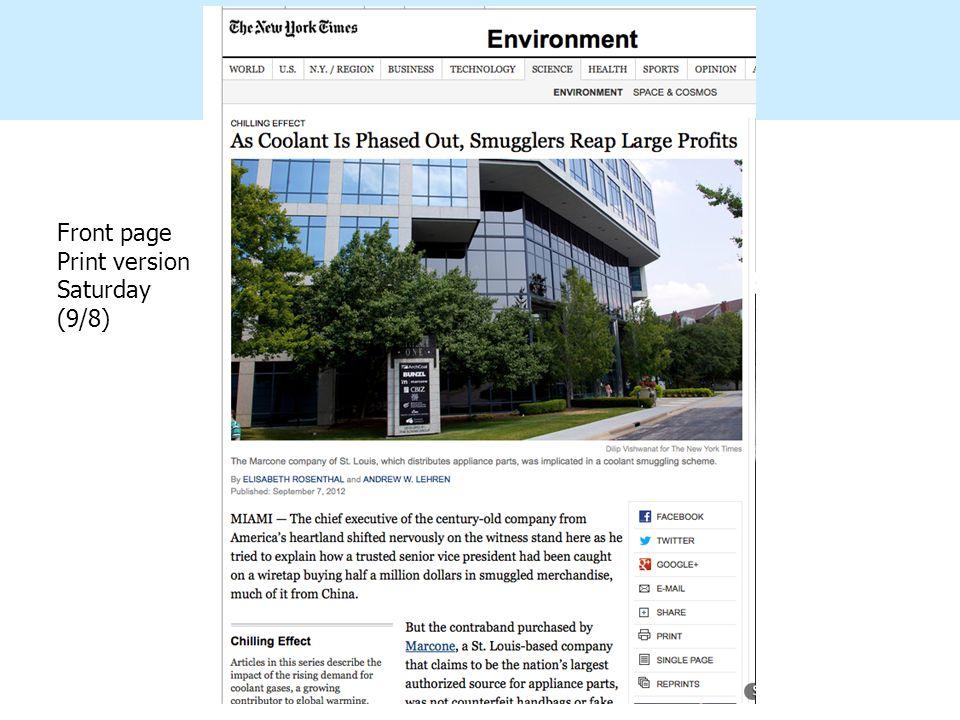 montzka Front page Print version Saturday (9/8)