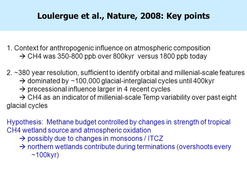 Loulergue et al., Nature, 2008: Key points 1.