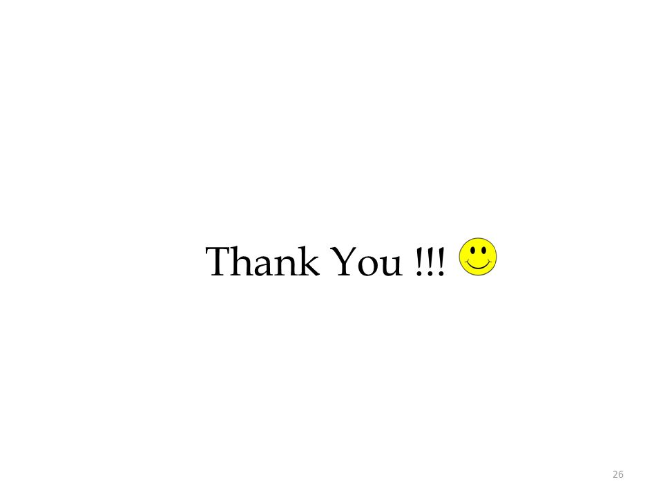 Thank You !!! 26