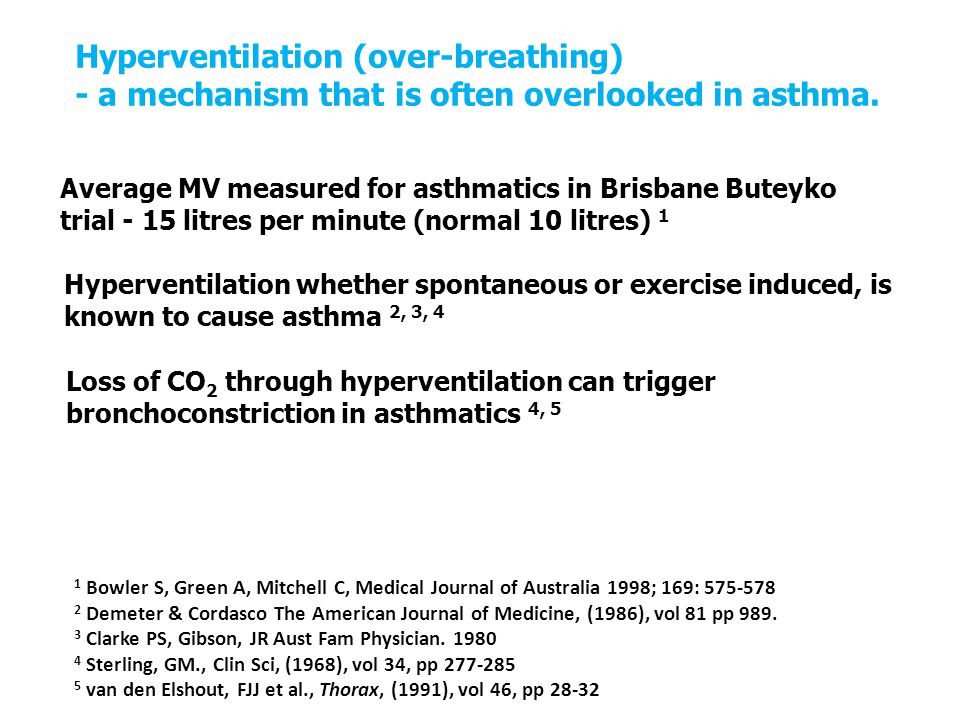 Hyperventilation (over-breathing) - a mechanism that is often overlooked in asthma.