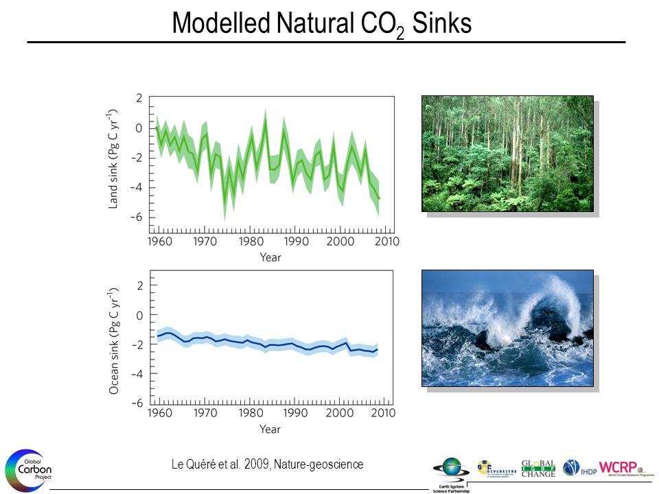 Modelled Natural CO 2 Sinks Le Quéré et al. 2009, Nature-geoscience