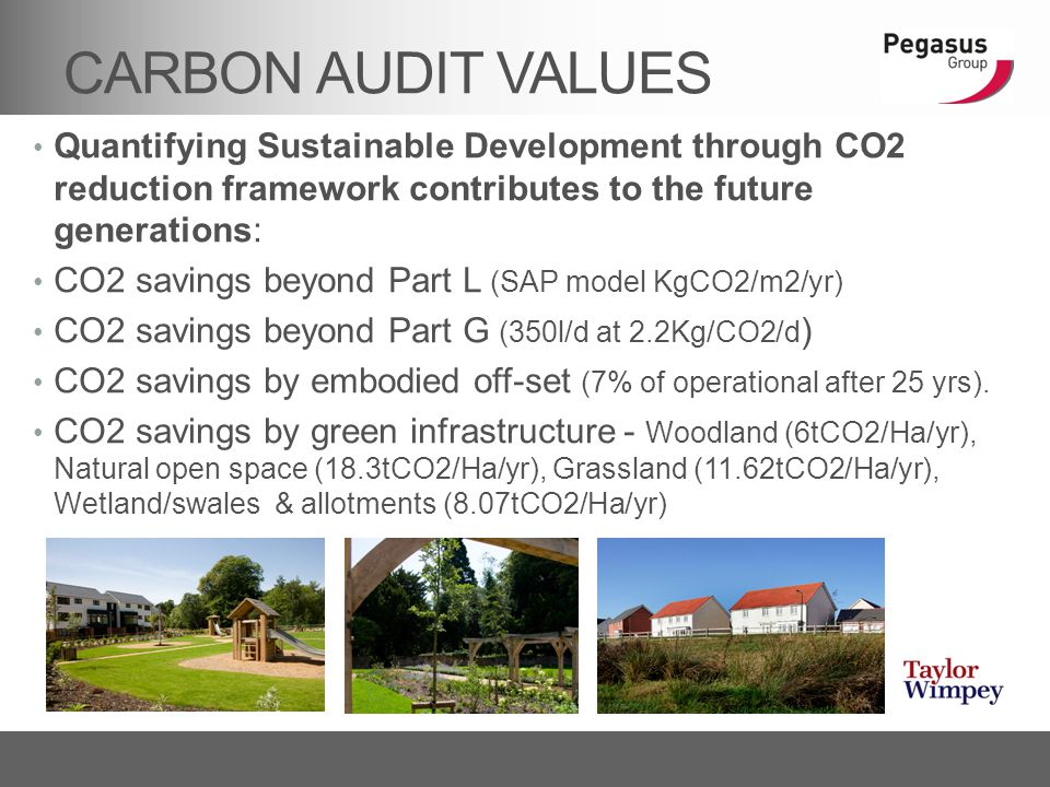 CARBON AUDIT VALUES Quantifying Sustainable Development through CO2 reduction framework contributes to the future generations: CO2 savings beyond Part