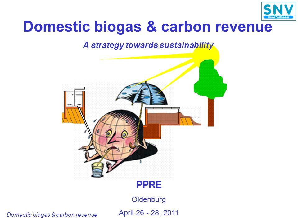 Domestic biogas & carbon revenue Carbon value for biogas projects: Pakistan