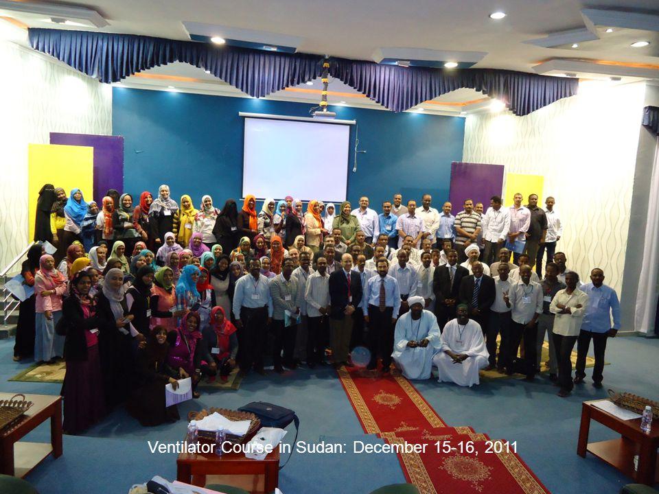 Ventilator Course in Sudan: December 15-16, 2011