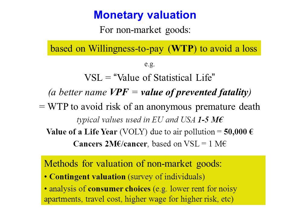 18 Monetary valuation e.g.