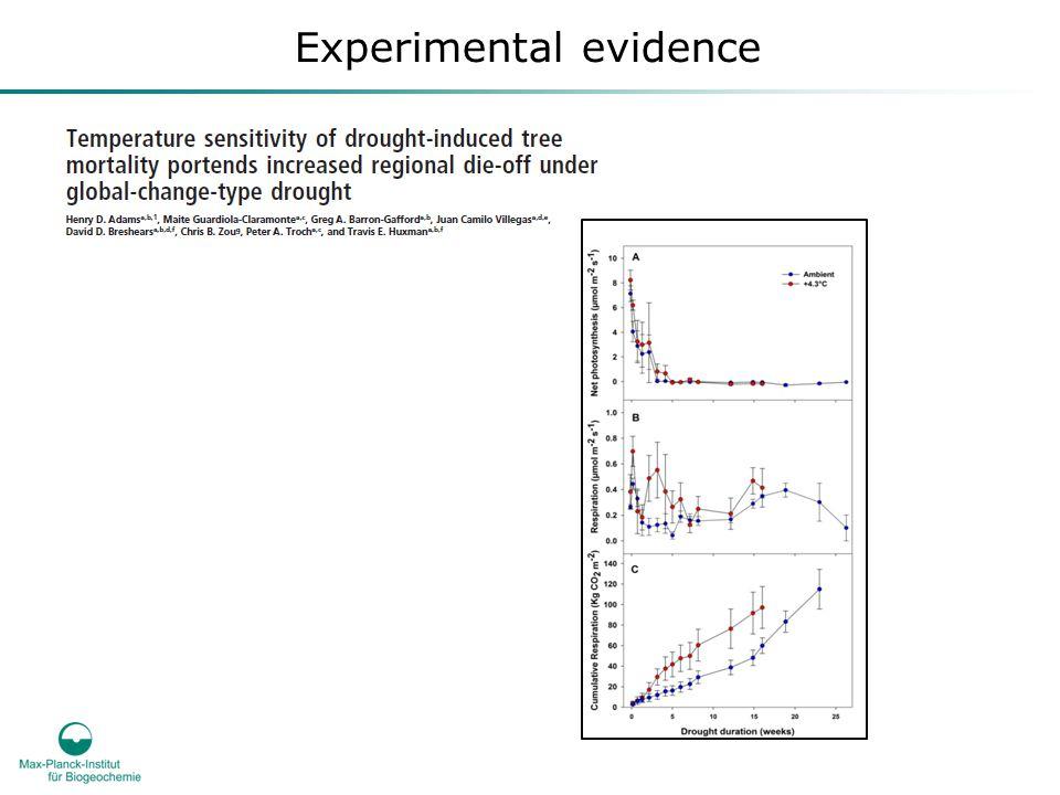 Experimental evidence