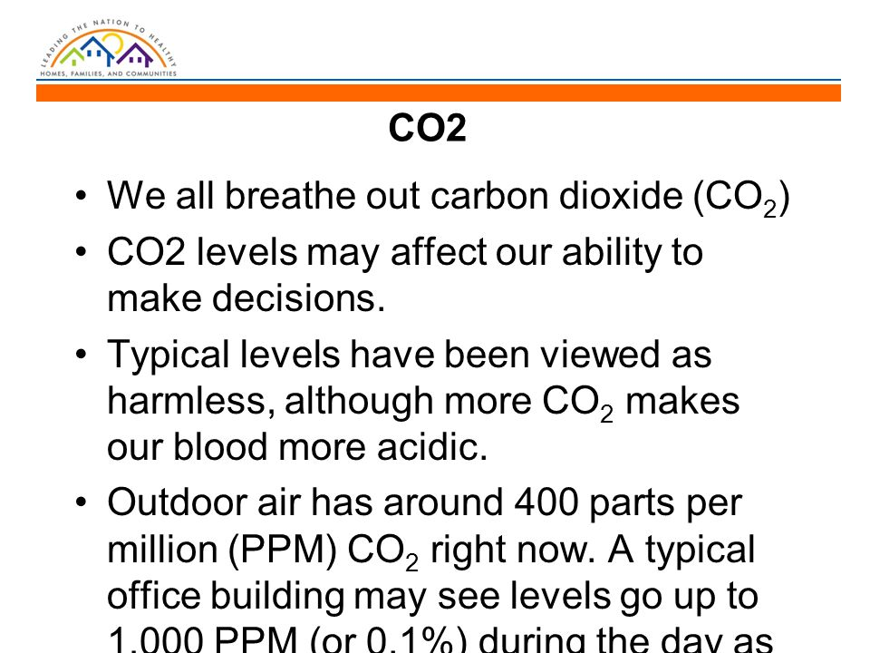 CO2 We all breathe out carbon dioxide (CO 2 ) CO2 levels may affect our ability to make decisions.
