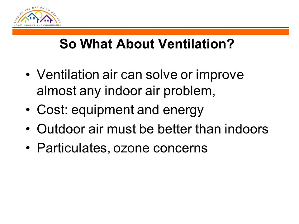 So What About Ventilation.