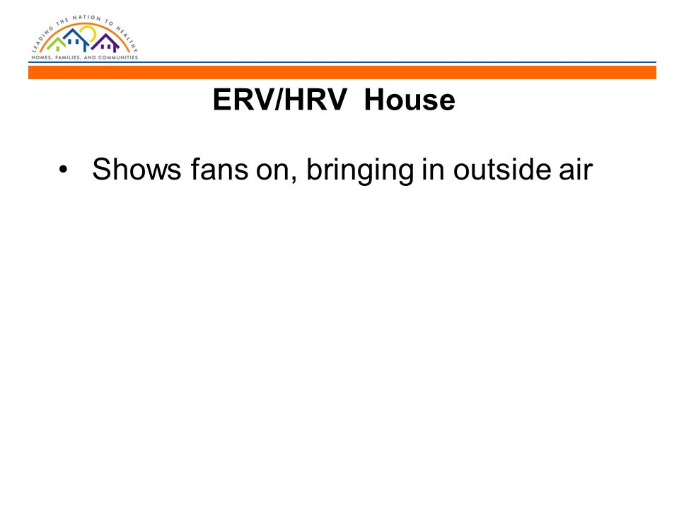ERV/HRV House Shows fans on, bringing in outside air