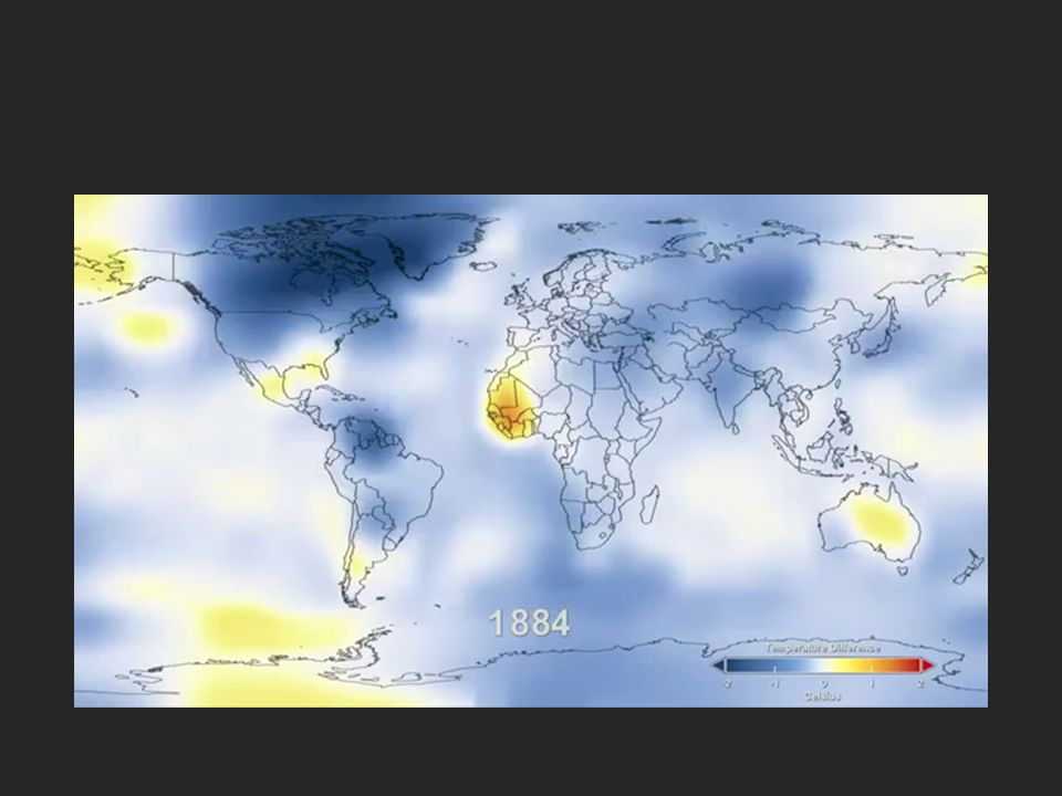 Change in Temperature from 1960 to 2000