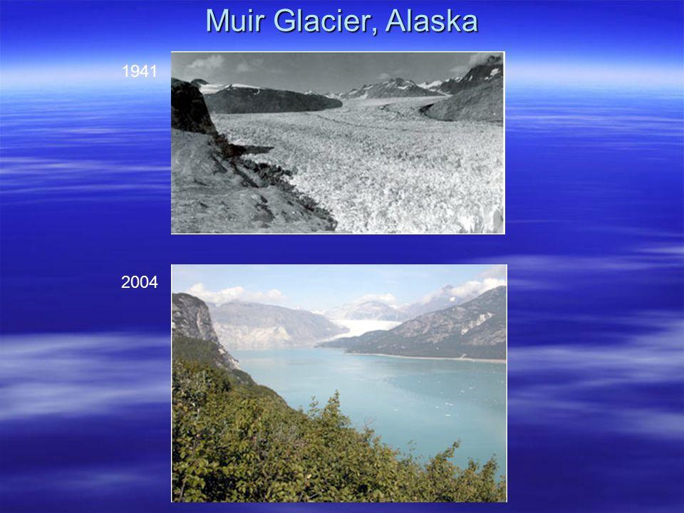 Muir Glacier, Alaska 1941 2004
