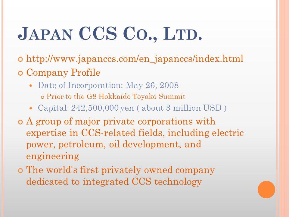 J APAN CCS C O., L TD.