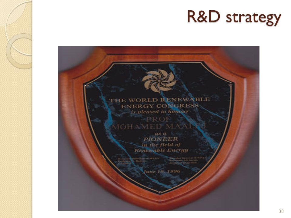 38 R&D strategy R&D strategy