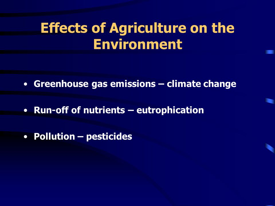 Vulnerabilities of Agriculture to Climate Change Research and Development –Effects of climate change on pests –Effects on pesticide efficacy –Drought tolerance and water use efficiency –Cultivation practices Technology Commercialization –Drought tolerant varieties –Green manuring –Integrated fertility approaches –Renewable biofuels and agrifibres
