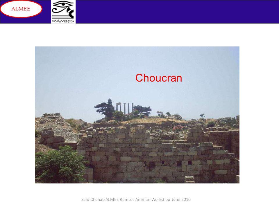 Said Chehab ALMEE Ramses Amman Workshop June 2010 ALMEE Choucran