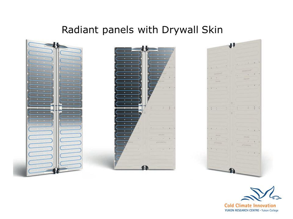 Radiant panels with Drywall Skin