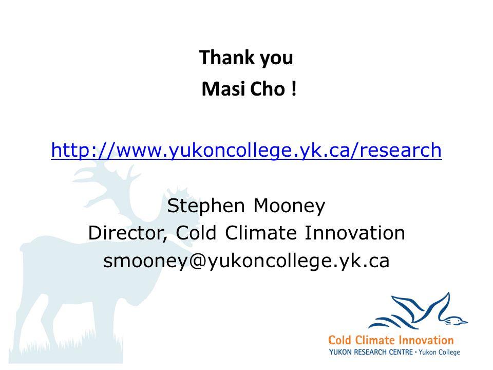 Thank you Masi Cho .