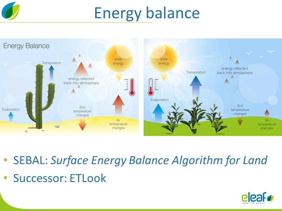 Energy balance SEBAL: Surface Energy Balance Algorithm for Land Successor: ETLook