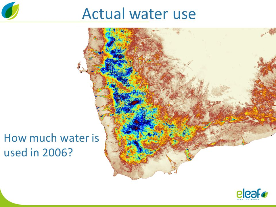 Actual water use How much water is used in 2006