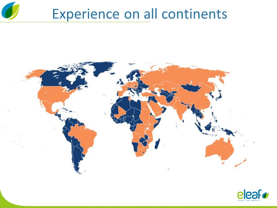 Experience on all continents