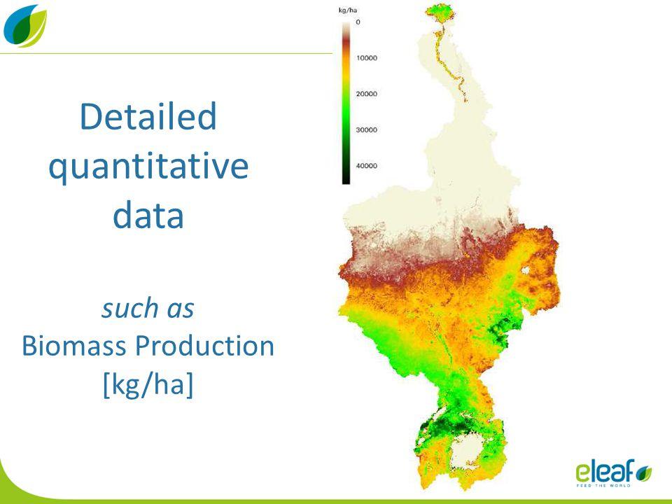 Detailed quantitative data such as Biomass Production [kg/ha]