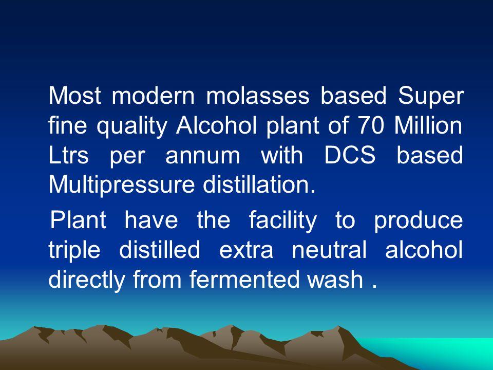 Grain based alcohol plant of 30 Million ltrs per annum having own milling facility of multiple grains.