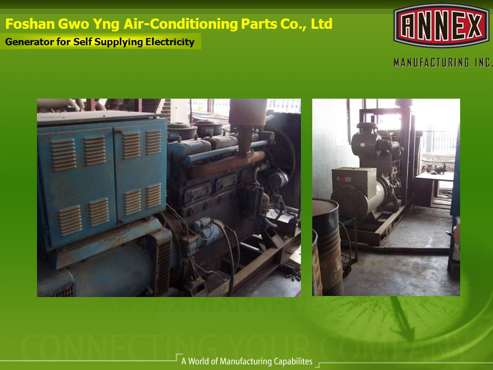 Foshan Gwo Yng Air-Conditioning Parts Co., Ltd Generator for Self Supplying Electricity