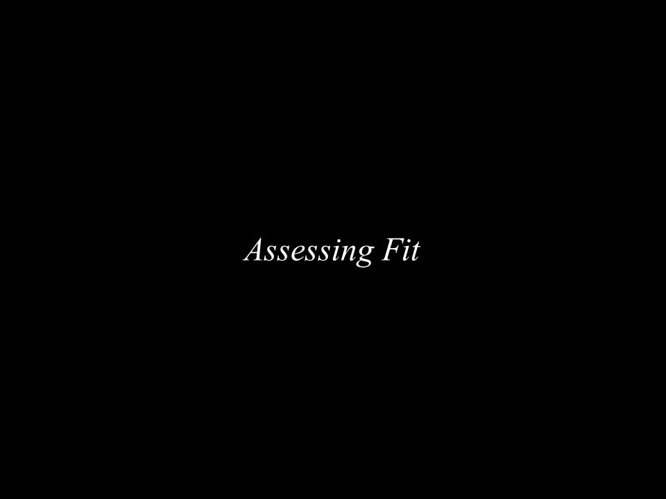 Assessing Fit