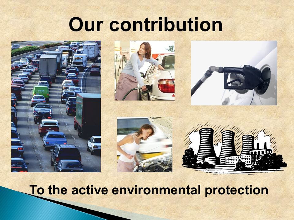 Our contribution To the active environmental protection